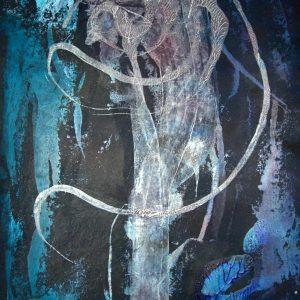 Alien - Monotypie von Andrea Wildhagen 2008