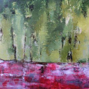 Blick zum Wald Acryl Andrea Wildhagen