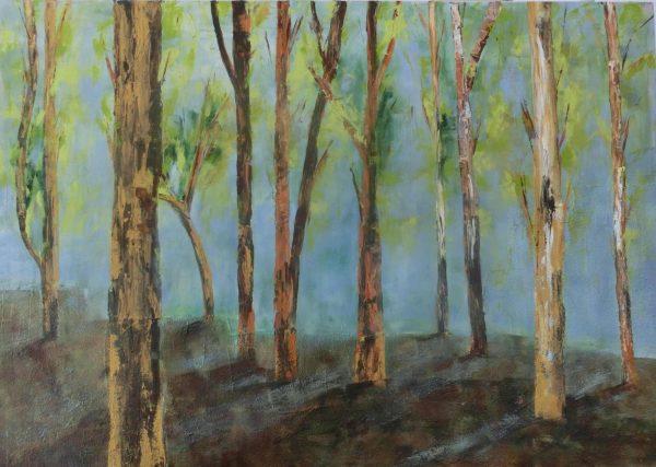 Der Wald erwacht Acryl Andrea Wildhagen