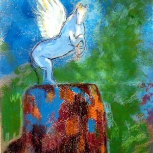 Pegasus Mixed Media Andrea Wildhagen