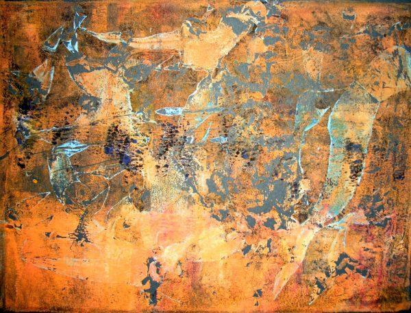 Wüste in Nairobi Monotypie Andrea Wildhagen