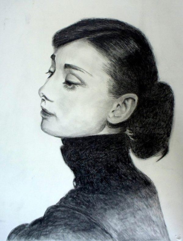 Audrey- Zeichnung von Andrea Wildhagen 2019