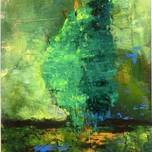 Einsamer Baum Acryl Andrea Wildhagen
